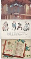 Vintage Different Postcards Circa 1800's-1900's Lot of 5 +