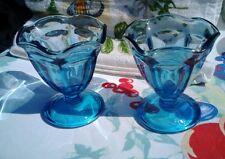 2 Midnight Blue Glass Dessert Dishes