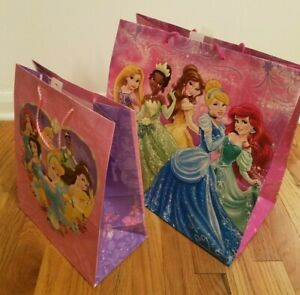 Lot of 2 Disney Princess Gift Bags by Hallmark