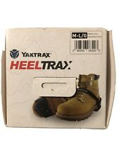 NEW Yaktrax Heeltrax With Spikes On Heel For Extra Stability On Snow & Ice MD/LG
