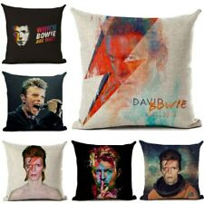 Rock David Bowie  Rock And Roll Throw Pillow Case Car Sofa Home Cushion Cover