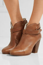 $550 Rag & Bone Harrow SHEARLING Ankle Boots in brown sz EU 39 / US 9