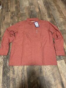 Gillz Captain Series Woven Shirt American Beauty Mens Sz XL Fishing Sun Protect