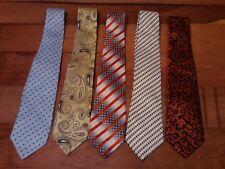 Lot Of 5 Current Giorgio Armani Italy Hand Made Geometric Pattern Luxury Ties