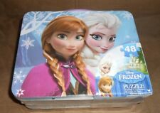 Disney Frozen Puzzle in Lunchbox Tin - Brand NEW, Factory Sealed