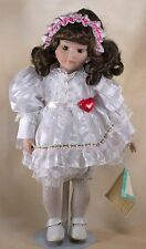 Sweetheart Porcelain Collector's Doll 15 Inch Brown Hair Brown Eyes