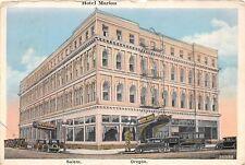 D53/ Salem Oregon Or Postcard 1937 Hotel Marion Building