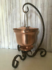 Copper Pot Food Warmer Hand Forged Stand 2 Liters 2.1 qt