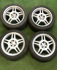 "GENUINE AMG MERCEDES SLK C CLASS W203 17"" STAGGERED  ALLOY WHEELS"