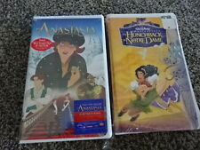 2 VHS FILMS! DISNEY'S THE HUNCHBACK OF NOTRE DAME & FOX STUDIOS' ANASTASIA!
