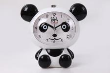 Cartoon Cute Panda Students Kids Study Office Alarm Clock Night Light Silent New