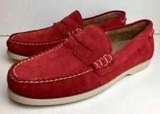 RALPH LAUREN Red Suede Deck Boat Shoes 8 / 42