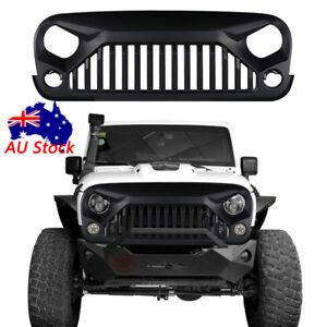 Black Front Gladiator Grille Vander Grill for 07-18 Jeep Wrangler JK & Unlimited