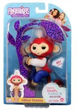 Fingerlings Limited Edition Baby Monkey Liberty Red White Blue Glitter USA New