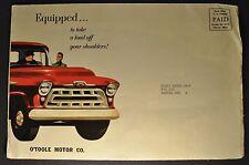 1957 Chevrolet Truck Mailer Brochure Pickup Panel Stake Box Truck Nice Original
