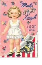 Vintage Uncut 1952 Make Judy Laugh Paper Dolls Hd Laser Reproduction~No.1 Sell