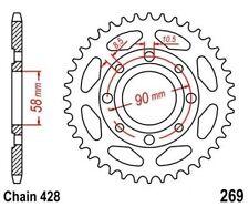 TMP Pignon Sortie Boite Arrière 35 Dents (Chaîne428) DAELIM VT 125 Evoluti 98-02