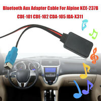 bluetooth Aux Adapter cable For Alpine KCE-237B CDE-101 CDE-102 CDA-105 IDA-X311