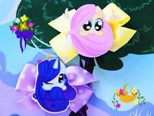 My Little Pony Fluttershy Rarity Inspired Handmade Hair Clips Girl Dress Costume