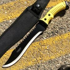 """16"""" Tactical Combat Hunting Fixed Blade Full Tang Rubber Handle Knife W Sheath"""