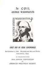 #1283B First Day Ceremony ASDA Program 5c George Washington