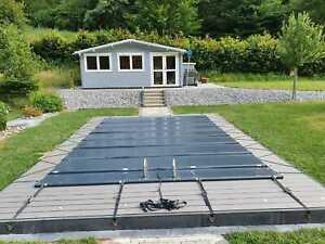 Sicherheits - Schwimmbadabdeckung Rollabdeckung  8,00 x 4,30 m