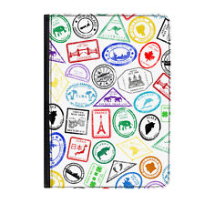 "Passport Francobolli Viaggio India Universale Tablet 9-10.1 "" Leather Flip Cover"
