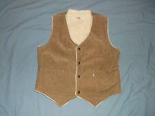 VTG 70's LEVIS corduroy vest sherpa style Med-Lg Brown snap jacket coat