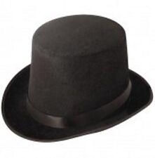 Black Velour Top Hat Ringmaster or Gent's Hat