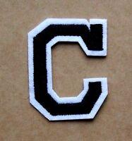 Letter C Patch Alphabet  Iron Sew On Applique Badge Motif
