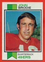 1973 Topps #45 John Brodie EX-EXMINT+ San Francisco 49ers FREE SHIPPING