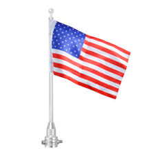 Motorcycle Rear Luggage Rack Mount Flag Pole USA American U.S.A. Flag for Harley
