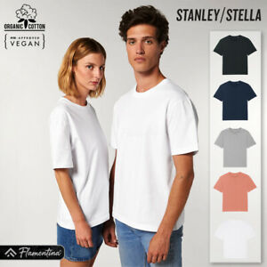 Unisex Organic Cotton Heavy T-Shirt Stanley Stella Jersey Top Relaxed Fit Style