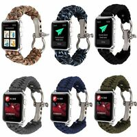 Sport Band For Apple Watch Series 6 5 4 3 Woven Nylon Rope Watch Strap Bracelet