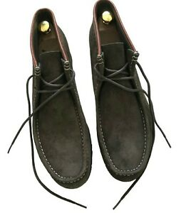 """Paul Smith """"PSJ""""  Leather & Suede Ankle Boots  Olive  Mens  size 8/42"""