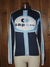 Mens White Blue Bicycle Jersey Capo forma XL long sleeve cycling