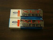 NOS OEM Ford 1980 1988 Ranger F150 Truck XLT Diesel Emblems 1981 1982 1983 1984