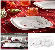 Corelle174 Square153 16pc Dinnerware Set Splendor Red