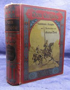 Macke Don Quijote von der Mancha 2 Bde in 1 um 1890 Jubiläums-Pracht-Ausgabe sf