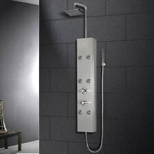 ARIEL A301 Shower Panel with Massage Jets, Hand-Held and Rainfall Shower Heads
