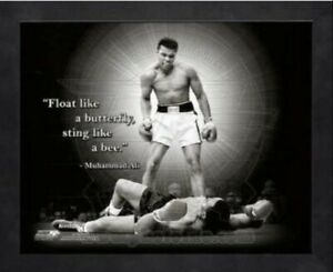 "Muhammad Ali v Sonny Liston Pro Quotes Photo (Size: 12"" x 15"") Framed"