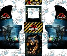 Arcade1up Arcade Cabinet Graphic Decal Complete Kits - Jurassic Park Custom