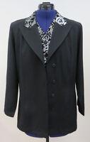 Festlicher Damen Blazer Jacket Jacke Damenjacke Damenblazer Schwarz/Silber Gr.40