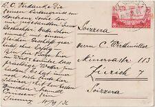 ITALY 1936 75C ORAZIO ISOLATED ON POSTCARD COVER VIAREGGIO TO SWITZERLAND