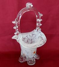 Vintage Italian Murano Art Decorative Color Glass Sweet Candy Bonbon Basket