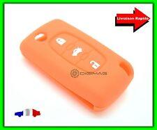 Étui Housse Protection Télécommande Clé Plip Peugeot  3 Boutons Coffre ORANGE