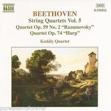 BEETHOVEN - String Quartets Volume 5 (Kodaly Quartet) (EU 8 Tk CD Album)