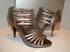 New Marc Fisher Womens Society2 Pewter Synthetic Sandals Shoes 5.5 Medium