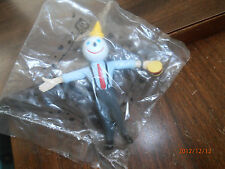 Rare Jack in the Box Toy Bendable Jack Holding Hamburger 1997 Great Gift