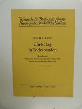 Coral puntuación J.H.E. Koch Cristo GAL en todesbanden